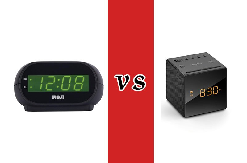 Sony alarm clock VS RCA alarm clock