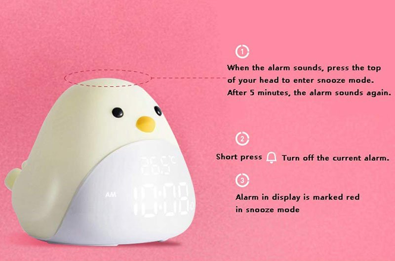 Lazy bird electronic alarm clock
