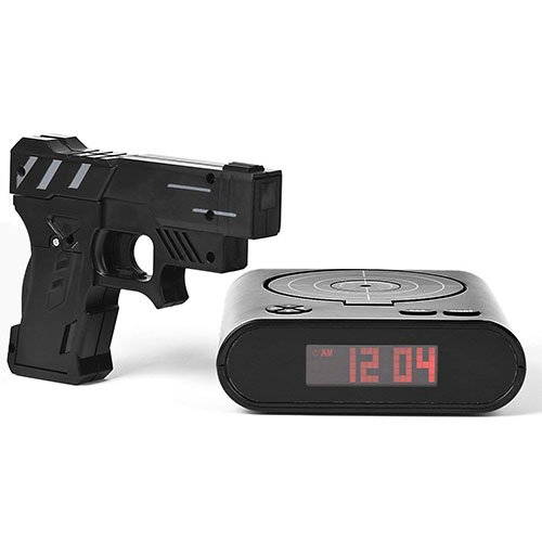Pistol-Shaped Shooting Alarm Clock