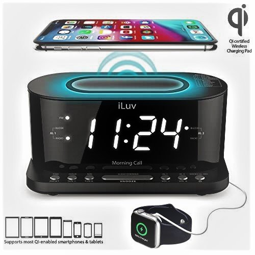 Wireless charging bedroom alarm clock