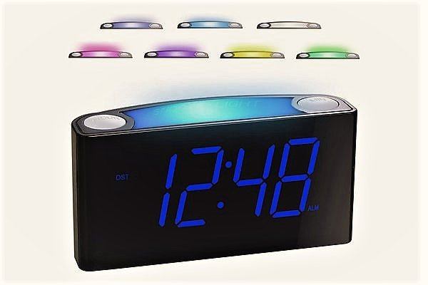 best alarm clock with color night ligh