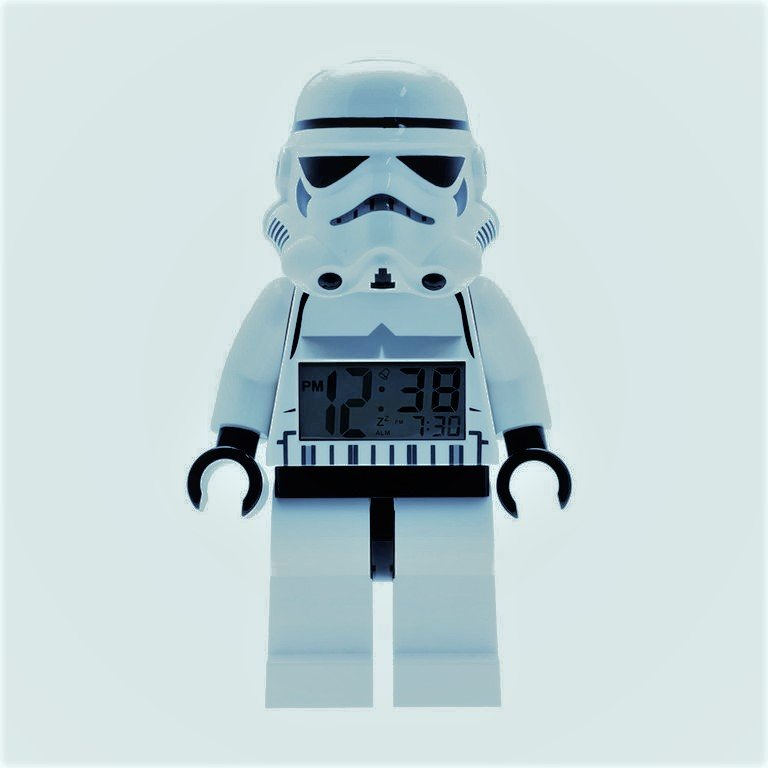 lego star wars figure alarm clock