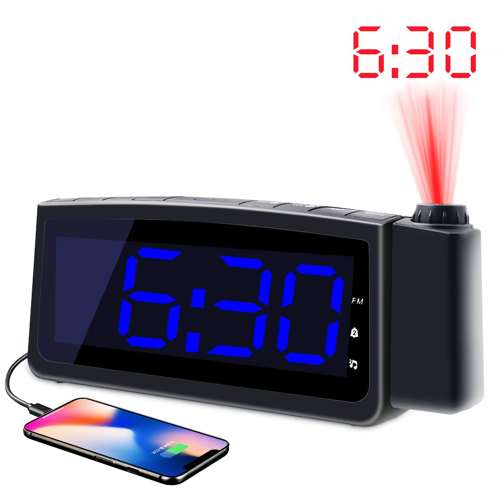 koviti projection timepiece radio
