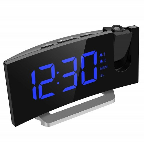 mpow projection alarm clock