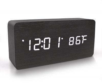 warmhoming wooden digital alarm clock