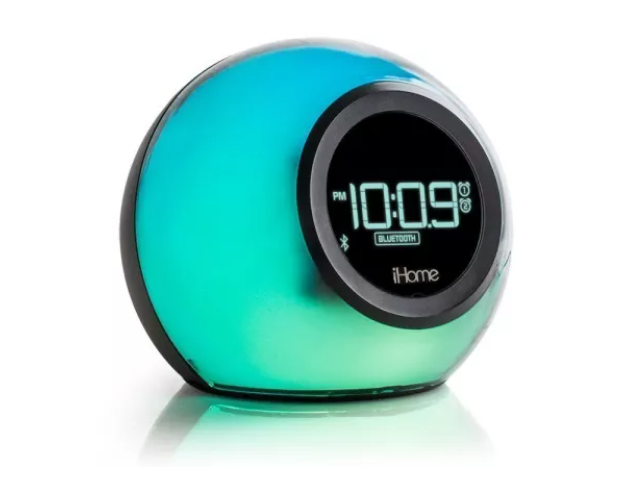bluetooth color change dual alarm clock
