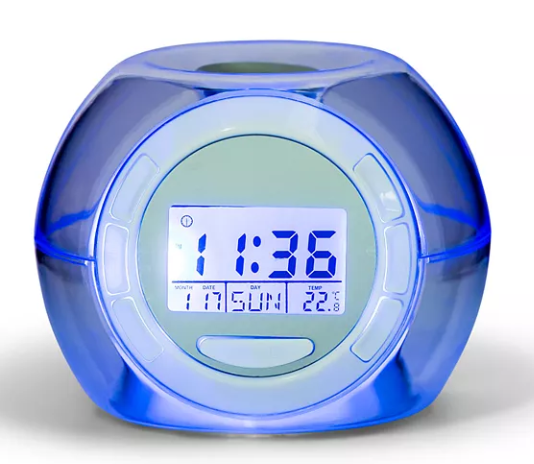 nifty led color changing alarm clock